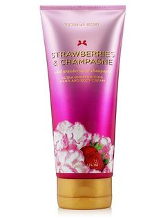 Hidratante Victoria Secret Ultra moisturizing Hand and Body Cream Strawberries And Champagne Strawberry Champagne, Perfume, Body Treatments, Smell Good, Bath And Body Works, Body Lotion, Body Care, The Secret, Victoria Secret