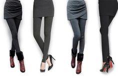 Skirt leggings in grijs of zwart