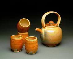 Gas Fired Shino Tea Set by MBrownCeramics on DeviantArt