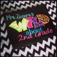 Wild about 2nd Grade for teacher or student by JorjaPorja on Etsy, $20.00