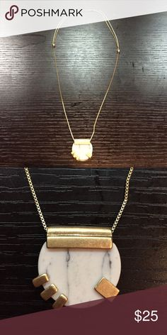 Madewell Necklace A beautiful marble and gold pendant from Madewell. Madewell Jewelry Necklaces