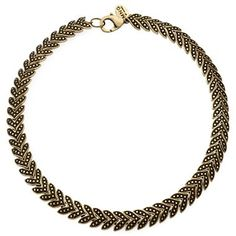 Black and gold. Great dancing partners to have a fabulous time. MNG by Mango® Gold Leaf Fashion Necklace - jcpenney