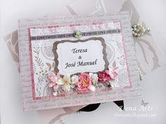 Elena Arts: Libro de firmas de boda para Teresa y José Manuel....   #mixedmedia #scrapbooking #mixedmediascrapbooking #elenaarts #librodefirmas #weddingbook #guestbook #boda #wedding #scrap
