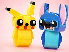 The most adorable LEGO Stitch and Pikachu you'll ever see