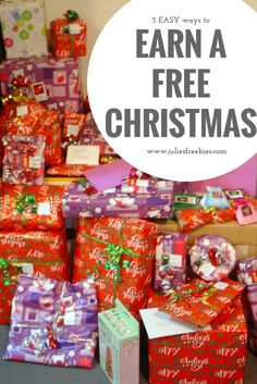 Want to earn a free Christmas this year? It's never too early to get started. Here are some of the best ways to get your gifts for free.