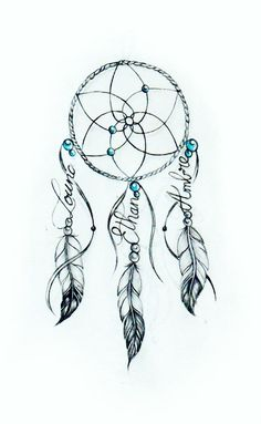 Dream catcher Dream catcher We are drawing your Tattoo ! From a simple idea, we create your drawing from A to Z Unique design * unlimited changes * everywhere in the world<br> Boho Tattoos, Feather Tattoos, Unique Tattoos, Cute Tattoos, Beautiful Tattoos, Body Art Tattoos, Small Tattoos, Dreamcatcher Tattoos, Tatoos