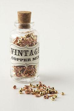 Vintage Glass Bead Jar  $18.00