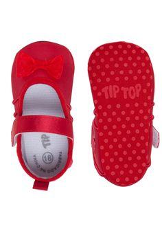 696e820b26 Sapatilha Tip Top Infantil Lacinho Vermelho
