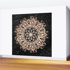 Metallic Mandala Wall Mural by beebeedeigner Black Marble Background, Wall Murals, Mandala, Metallic, Tapestry, Home Decor, Wallpaper Murals, Hanging Tapestry, Tapestries