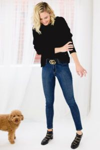 Fashionista and dog lover Meghan King Edmonds from Real Housewives of the O. Meghan King Edmonds, Lily Boutique, Best Jeans, Real Housewives, Lilies, Amazing Women, Mystic, Skinny Jeans, Dog