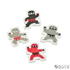 LEGO Round Eraser 2 Pack with 2 x 2 LEGO Brick in Each by Santoki NEW /& SEALED