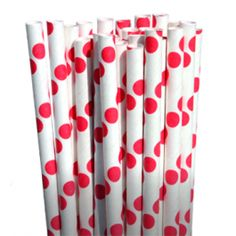 Perfect for tying together a color theme from bar to buffet. 50s Theme Parties, Cake Pop Sticks, 50th Party, Red Party, Paper Straws, Colored Paper, Be My Valentine, Color Themes, Party Supplies