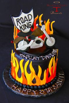 Harley Davidson-themed Birthday Cake