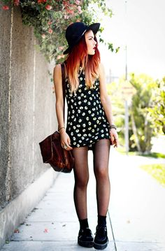 Cute floral dress and creepers
