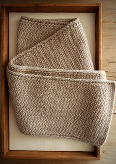 Laura's Loop: Men's Mini Herringbone Scarf - Knitting Crochet Sewing Crafts Patterns and Ideas! - the purl bee