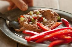 Cajun Bean Dip with Red Bell Peppers
