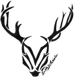 Tribal Deer Head Tattoos