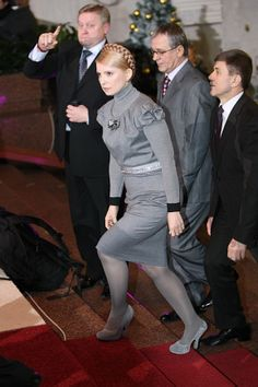 YuliaTymoshenko the best dressed prime minister in the world and fighting for her Country proudly