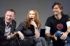 Phil Collinson, Catherine Tate, David Tennant  at BFI Doctor Who at 50  <----- Uh oh, what did someone ask to get that set of expressions in response?