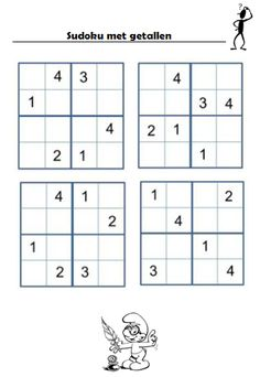 Gietjes Corner: Nog wat sudoku's... Math Activities For Kids, Math For Kids, Math Games, Maze Worksheet, Worksheets, Sudoku Puzzles, School Frame, Math Numbers, Kids Corner