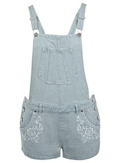 Embroidered Denim Dungaree - View All  - Sale & Offers