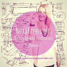Mulheres Empreendedoras - Cristina Valente  O que faz com que estas Mulheres sejam empreendedoras de sucesso e ao mesmo tempo Mães a tempo inteiro?  Ver video: https://www.facebook.com/video.php?v=748218975256495&set=vb.466489513429444&type=2&theater