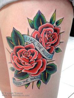 roses rain