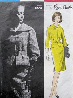 1960s Vintage Sewing Pattern Vogue Paris Original by ALadiesShop, $85.00