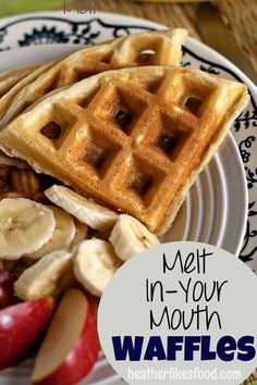 One bowl, quick and easy waffles that are light and crispy #waffles #recipe