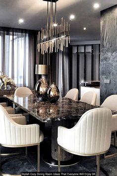 Luxury Dining Tables, Elegant Dining Room, Luxury Dining Room, Dining Room Table Decor, Dining Room Design, Kitchen Design, Room Interior Design, Living Room Interior, Esstisch Design