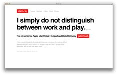 I simply do not distinguish between work and play. Mary Oliver - http://macjunky.nl?p=36101  #Apple #Mac #IT #Consultant #Repair #Support #Data #Recovery #Freelance #MacJunky #Amsterdam