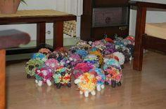 Rebaño de fieltro by Emi Porzia woolly sheeps