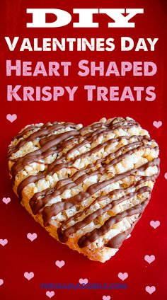 Heart Shaped Krispy Treats for Valentines Day - so cute!