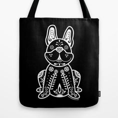 Dia de los Frenchies Tote Bag Quality crafted Tote Bags are hand sewn in America…