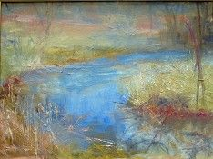 Bend in the River, 12 x 16, oil on canvas, 2008