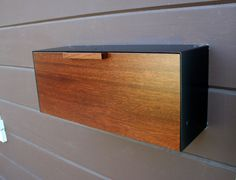 Modern Mailbox Mahogany w/ Ipe Stain and Stainless Steel