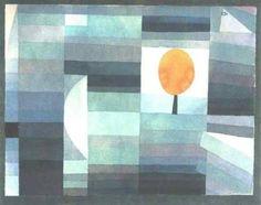 The messenger of autumn, 1922, Paul Klee #abstractart