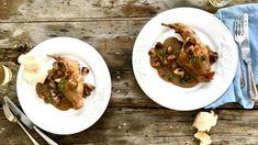 Omáčka z bílého vína, smetany a hořčice je klasickým společníkem k jemnému králičímu masu. Beef, Food, Meat, Essen, Meals, Yemek, Eten, Steak