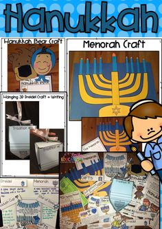 Get your students engaged this holiday season with these Hanukkah Activities! Hanging 3D Dreidel Craft, Menorah Craft, Hanukkah Bear Craft, Readers' Theater, foldable emergent readers, and more!
