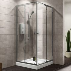 Plumbsure Square Shower Enclosure with Double Plumbsure Square Shower Enclosure with Double Sliding Doors (W)800mm (D)800mm.Update your bathroom with this square shower enclosure from Plumbsure. The stylish double sliding doors and space saving s http://www.MightGet.com/april-2017-1/plumbsure-square-shower-enclosure-with-double.asp