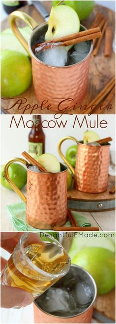 The perfect apple cocktail to enjoy on a crisp autumn day!  My Apple Ginger…