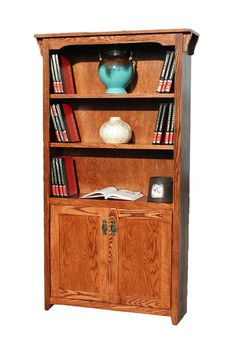 "OD Mission Oak Bookcases with Lower Doors 36"" W, 13"" D in heights 72"" & 84"": Oak Bookcases with Doors in Arizona, Oak Bookcase, Bookcases with Doors, Bookcases for Sale"