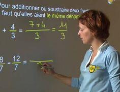 Addition soustraction de fractions    Pour additionner (ou soustraire) deux fractions, il faut qu'elles aient le même dénominateur. Si les dénominateurs sont différents, il faut réduire les fractions au même dénominateur avant de les additionner (ou de les soustraire). De même, pour additionner une fraction et un nombre écrit sous forme décimale, il faut écrire ce nombre décimal sous forme de fraction. Dans cette vidéo, revoyez toutes ces méthodes avec Lucie, professeure de mathématiques.