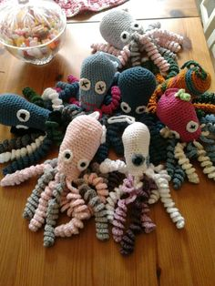octopuses to premature babies crocheted octos crochet mitt crochet toy ...