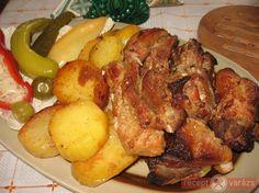Tejben sült pecsenye recept képpel, a hozzávalók és az elkészítés pontos leírásával. Készítsd el akár 2, vagy 12 főre, a Receptvarazs.hu ebben is segít! Hungarian Cuisine, Hungarian Recipes, Hungarian Food, Pork Recipes, Cooking Recipes, Roasted Pork Tenderloins, Just Eat It, Pork Dishes, Pasta