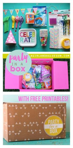 fun party in a box with free printables