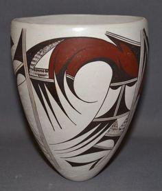 Indian Vase : Native American Hopi Pottery Vase, by Marianne Navasie #229