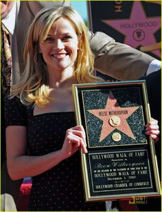 Reese gets her Star on the famed Hollywood walk of fame 12.1.10