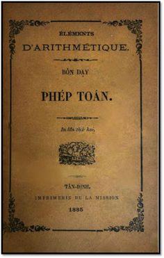 Bổn Dạy Phép Toán (NXB Tân Định 1885) - D. Arithmétique, 188 Trang