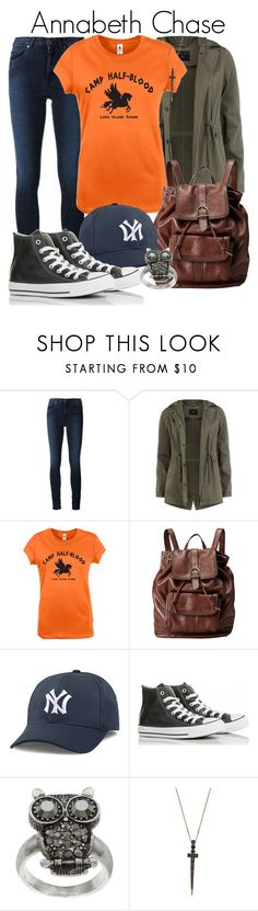 """""""Annabeth Chase from the Percy Jackson Series"""" by ginger-coloured ❤ liked on Polyvore featuring Acne Studios, Dorothy Perkins, FOSSIL, American Needle, Converse, City Style, Bee Goddess, contestentry, Athena and percabeth"""